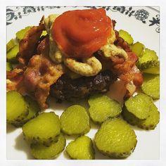 Bacon cheeseburger & pickles #keto #lchf by thc_has_no_carbs