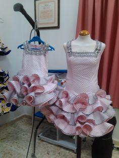 vestidos flamenca - Buscar con Google Baby Dress, Sewing, Formal Dresses, Google, Crafts, Fashion, Flamenco Dresses, Ruffle Dress, Polka Dots