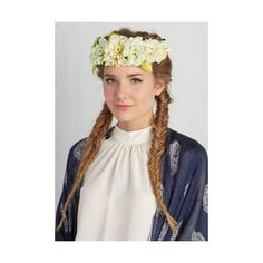 Pastel Floral of the Story Flower Crown ($20) ❤ liked on Polyvore featuring accessories, hair accessories, hair accessory, hair crown, multi, other accessory, yellow flower crown, wire headband, flower hair accessories and wire garland