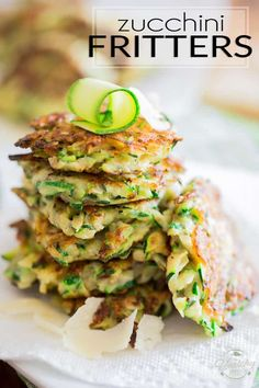 Quick and easy to make, these Zucchini Fritters make for a healthy appetizer, side dish, light meal or even snack. They're bound to become a favorite! Baby Food Recipes, Cooking Recipes, Toddler Recipes, Savoury Recipes, Cooking Ideas, Zucchini Fritters, Healthy Appetizers, Zucchini Appetizers, Healthy Cooking