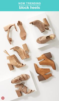 Here's a trend worth celebrating, especially  if you're not into stilettos! Block heels are everywhere this spring, from pumps to statement booties, and they're super comfy compared to a skinnier heel. Plus, warmer weather means open-toe and open-heel shoes, laces, and eyelets are even cooler.