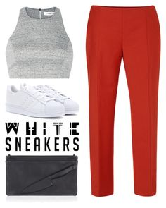 """""""White Sneakers"""" by cherieaustin on Polyvore featuring adidas, Narciso Rodriguez, Elizabeth and James, vliegervandam, ElizabethAndJames, NarcisoRodriguez, whitesneakers and VliegerAndVandam"""