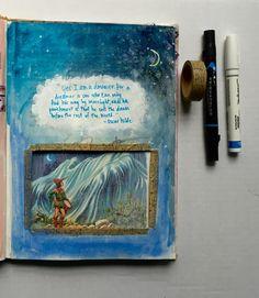 @TCLMN | I am a dreamer | Season of Words | Get Messy Art Journal