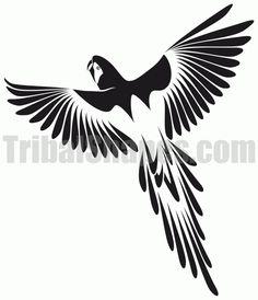"""Parrot 1"" tattoo design"