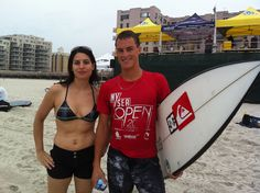 Long Beach's Balaram Stack & I at the 3rd Annual NY Sea Surfing Competition.