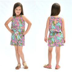 The Linville Romper and Dress Pattern is a woven romper, jumpsuit, short, or maxi dress pdf pattern for juniors from Hey June Handmade Sewing Patterns For Kids, Clothing Patterns, Dress Patterns, Pattern Sewing, Sewing Ideas, Romper Pattern, Jumpsuit Pattern, Tween Rompers, Junior Girls Clothing