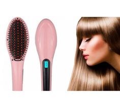 Great for all hair types this amazing new straightening brush will quickly straighten and smooth out your hair. Straight Hairstyles, Ceramic Hair Straightener, Hair Affair, Flat Iron, Matte Lipstick, Fine Hair, Textured Hair, Your Hair, Thick Hair