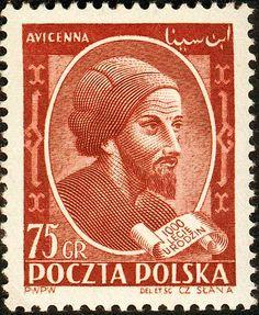 Avicenna stamp from Poland
