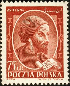 Avicenna stamp from Poland