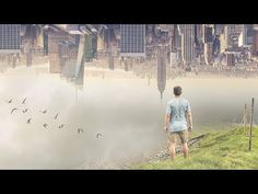 """In this Video Tutorial we learn to create surreal Photo manipulation effect """"City in the sky"""". We will use layer mask technique and few adjustment layer to c. Photo Manipulation Tutorial, City Sky, Sky Photos, Surrealism, Photoshop, Youtube, Image, Ideas, Thoughts"""