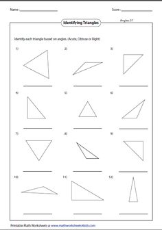 11 Best Geometry Triangles Images Geometry Triangles Fourth Grade