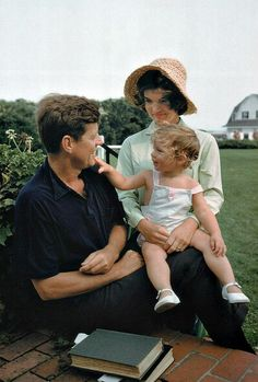 JFK, Jackie and Caroline.