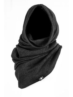 Head covers Hooded Capes, Hooded Dress, Hooded Scarf, Gant, Scarf Outfits, Cool Outfits, Witchy Clothing, Man Scarf, Black Hood