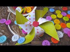 Cómo hacer broches de molinillos de papel. Tutorial