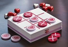 How to create a Valentine's Day Tic Tac Toe Board - you can do this for any season or holiday!