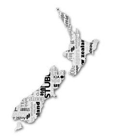 New Zealand wall art with Kiwiana words