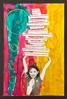 This is one of my FAVORITE art lessons for grade! Plus a little virtual gallery walk video! Art Lessons Elementary, Lessons For Kids, Art 2nd Grade, Art For Kids, Crafts For Kids, Classe D'art, Self Portrait Art, Art Classroom, Art Plastique