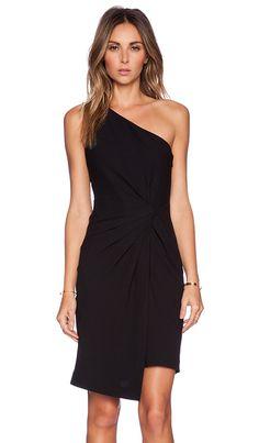 Halston Heritage One Shoulder Dress in Black | REVOLVE