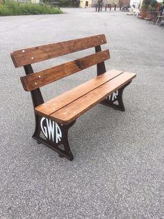 GWR railway bench 4ft platform bench cast iron platform bench british reclaimed   eBay