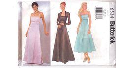 Dress Bridal Bridesmaid Shrug Fit Flare Butterick Sewing Pattern 6534 Sz 18-22  #bride #bridesmaid #Fitandflare
