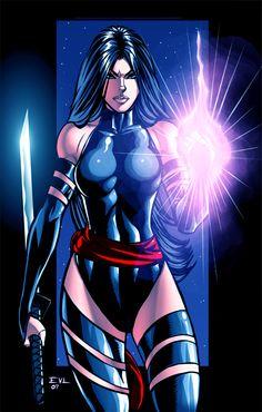 X-Men-Psylocke  by *ErikVonLehmann