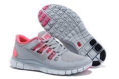 Nike Free Run+ 5.0 Zapatillas para Mujer Grises/Rosas http://www.esnikerun.com/