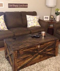 Pallet Coffee #Table + Storage #Chest   14 Creative Pallet Furniture Ideas  | 101