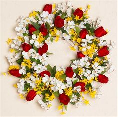 Spring Floral Wreath with Tulips  from Darby Creek Trading