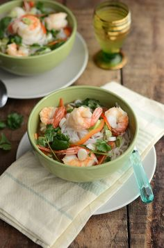 Hot & Sour Noodle Soup with Shrimp