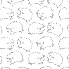 Cute Baby Sheep Pattern Hand Drawn Style, Sheep, Pattern, Background PNG and Vector with Transparent Background for Free Download