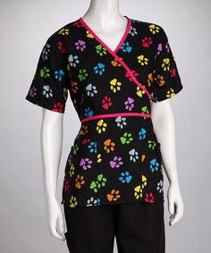 Take a look at this Black Paws Scrub Top - Women & Plus by Women's Scrubs Collection on #zulily today!