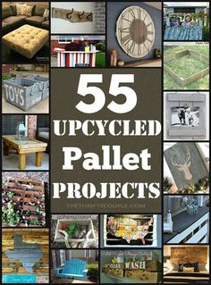 We love DIY pallet project! These 55 upcycled pallet project ideas are awesome. Recycling pallets as furniture, decor and practical purposes is so smart. Can't wait to try some of these! Which are your favorites?