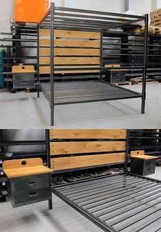 The Cell Bed Bespoke Industrial Bed With A Solid Steel Frame All