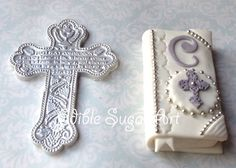 FIRST HOLY COMMUNION Cake Topper Cross Bible Baptism Christening Fondant Communion Cake Decorations Party Supplies