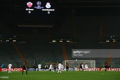 A general view of the empty Stadio Olimpico during the UEFA Champion's League group B match between AS Roma and Real Madrid on December 8, 2004 at the Stadio Olympico in Rome, Italy. Roma were forced to play the match behind closed doors due to recent crowd problems.