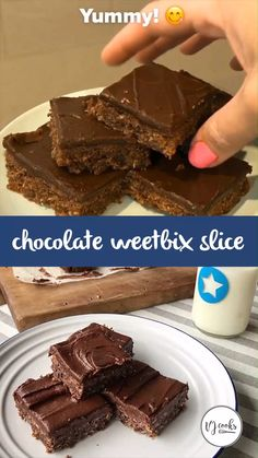 This is one of my most popular recipes! This chocolate Weetbix slice is a perfect treat. It's ideal with a nice hot cup of coffee in the afternoon and also a hit with the little ones. This recipe inco Weetabix Recipes, Weetabix Cake, Homemade Chocolate, Chocolate Recipes, Baking Chocolate, Chocolate Weetbix Slice, Baking Recipes For Kids, Baking Ideas, Easy Baking For Kids