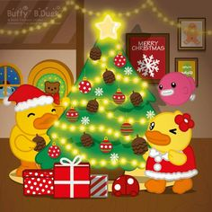 Cute Christmas Wallpaper, Rubber Duck, Kawaii, Christmas Ornaments, Holiday Decor, Cartoon Characters, Funny, Christmas Jewelry, Funny Parenting
