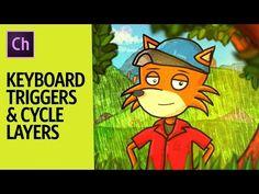 Keyboard Triggers & Cycle Layers (Adobe Character Animator Tutorial) - YouTube
