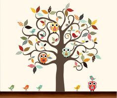 Anthropologie Array Tree  Pattern Brown Tree by PoppyGirlDesigns, $129.00