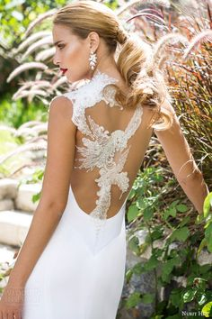 Nurit Hen Summer 2014 #bridal collection: #wedding dress with beaded back detail #weddinggown #weddingdress