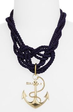 Free shipping and returns on Spring Street Design Group Anchor Rope Necklace at Nordstrom.com. A huge anchor captures attention on a nautical-inspired necklace of twisted ropes.