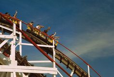 People on Roller Coaster Ride