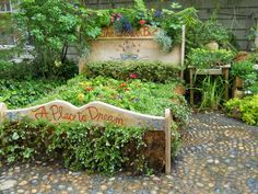Flower bed...literally.  Too cute!