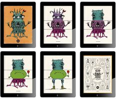 This app is digital flip book that allows students to combine many different body parts of monsters. See how my students are using this app as inspiration for our current lesson.   http://www.artsonia.com/museum/gallery.asp?exhibit=502571