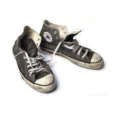 Chuck Taylor All Star Chucks Black Schwarz HI Vintage - Schuhe Vintage Sneakers, Vintage Shoes, Vintage Black, Converse Vintage, Cho Chang, Converse Trainers, Converse Shoes, Grey Converse, Converse Star