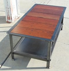 Vintage Industrial Coffee Table Modern Industrial by CustomEffects, $450.00