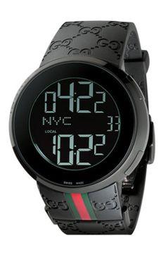 fef6d1caf97e6 Gucci Digital Watch, 44mm gifters.com digital watches for men Gucci Watches  For Men