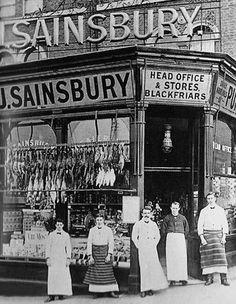 The staff of J Sainsbury, 173 Drury Lane, London, 1869