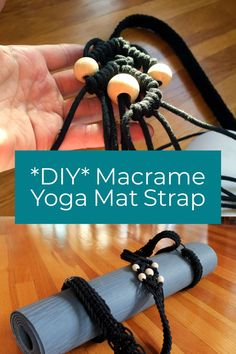Tutorial For Macrame Yoga Mat Strap Diy Pattern