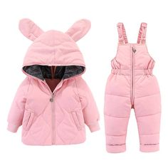 2020 New 2 Pcs Set Baby winter Suit Infant cold-proof down jacket cartoon Baby Girl snowsuit coat warm children's clothing 0-4Y Baby Winter Suit, Winter Baby Clothes, Winter Outfits For Girls, Winter Sport, Winter Kids, Baby Girl Snowsuit, Girls Ski Jacket, Puffer Jacket With Fur, Baby Cartoon